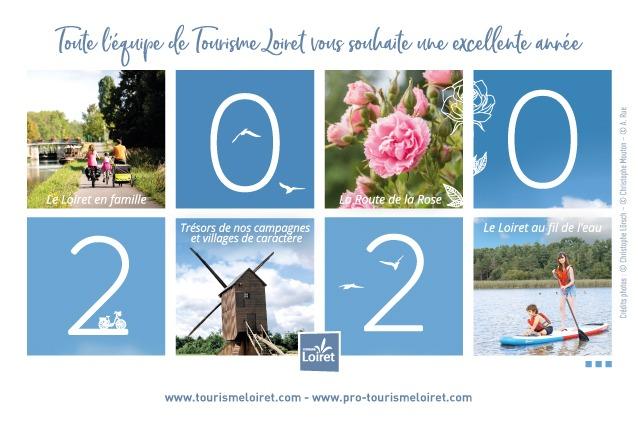 Carte de voeux 2020 Tourisme Loiret