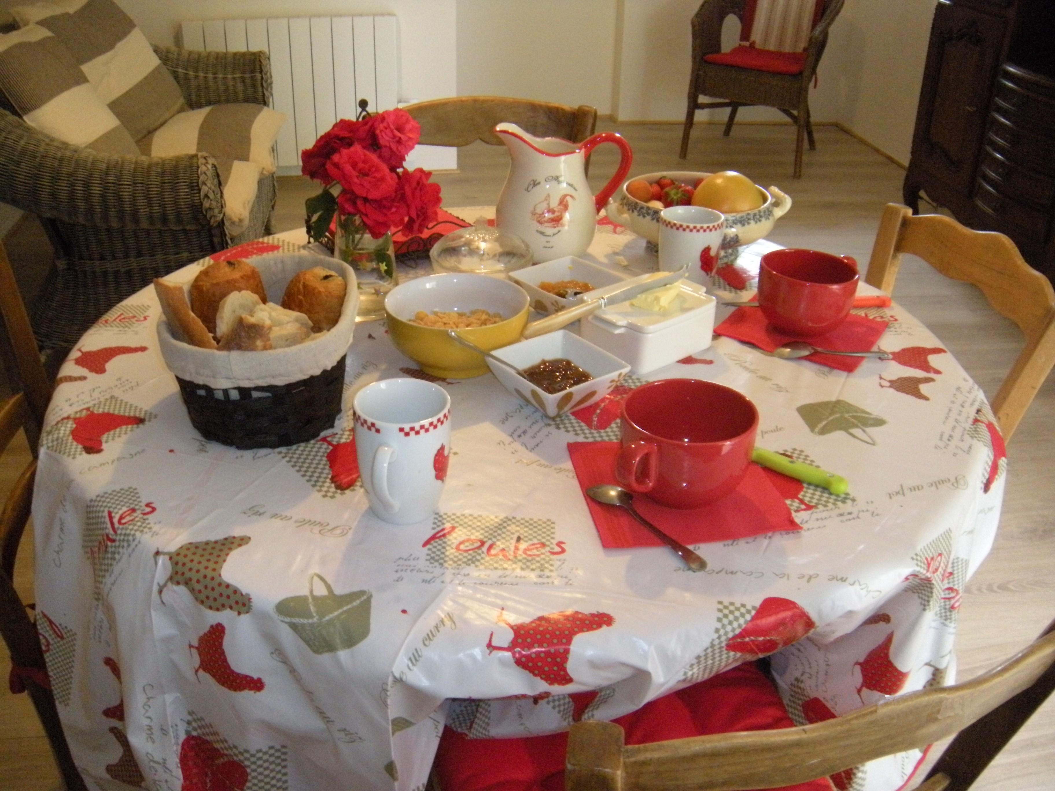 Petit déjeuner chambre d'hôtes La Boulaye